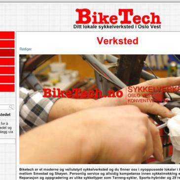 Biketech.no konvertert til responsiv side