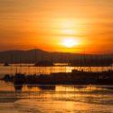 Siste solnedgang i kulden før regnet kommer i Oslo?