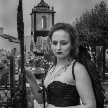 Dark style in cemetery